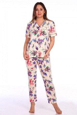 Пижама женская Влада (брюки и пиджак)
