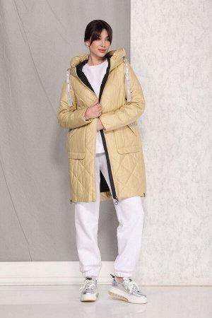 Куртка Куртка Beautiful&Free 4032 лимонный  Состав ткани: ПЭ-100%;  Куртка женская, весенняя, из гладкокрашеной полиэфирной стеганной ткани, с утепляющей подкладкой с одним слоем синтепона, на притач