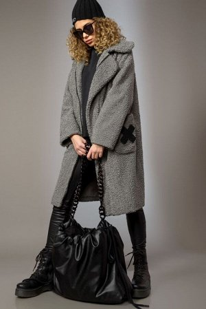 Пальто Пальто Сч@стье 7157 серый  Состав ткани: Вискоза-26%; ПЭ-74%;  Рост: 170 см.  Пальто свободного силуэта на подкладке из вискозы. Застежка центральная на молнию, борта ассиметричные. По полочка