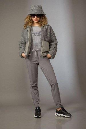 Куртка Куртка Сч@стье 7158 серый  Состав ткани: Вискоза-26%; ПЭ-74%;  Рост: 170 см.  Куртка женская утепленная свободного силуэта на подкладке и бельгийском изософте-100 (синтепоне). Центральная заст