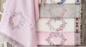 Набор полотенец  CEMRE хлопок (2 шт) (50*90,70*140) розовый