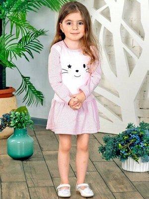 Платье Платье Кошка                                            лиловое, розовое