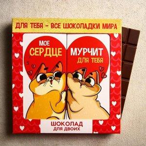 Шоколад молочный «Для двоих», 2 шт. х 85 г.