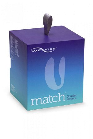 Вибромассажер для пар We-Vibe Match с дистанционным управлением (10 режимов)