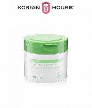 Mizon, Pore Fresh Peeling Toner Pad [Calming], 30PCs / Успокаивающие пилинг-диски для жирной кожи