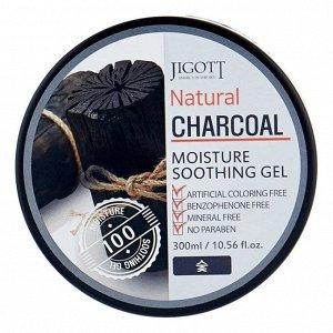 JIGOTT Гель 300мл Увлажняющий ,универсальный с древесным углём (Natural Charcoal) /48шт/