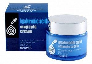 JIGOTT Крем 70мл д/лица с гиалуроновой кислотой,увлажняющий  (ZENZIA Hyaluronic Acid Ampoul Cream) /100шт/