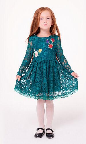 0921106003 (зеленый) Платье для девочки