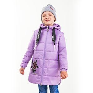 90002/2 (сиреневый) Куртка для девочки