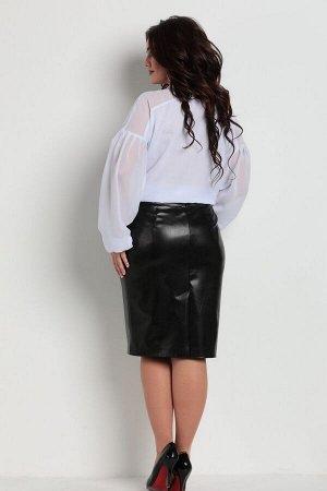 Юбка миди Рост: 170 см. Состав ткани: полиэстер-100%, подкладка-полиэстер-100% Юбка женская, состоит из экокожи.Есть талиевые выточки. По центру спинки потайная молния, переходящая в шлицу. Есть подкл