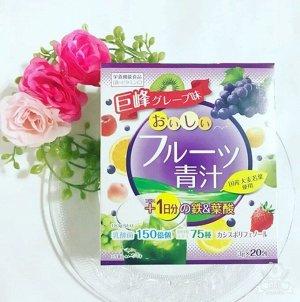 """005791 """"Yuwa"""" Концентрат для приготовления безалкогольных напитков """"Аодзиру с фруктами"""" (виноград, клубника)  3гр.*20шт"""