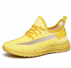 Женские кроссовки, цвет желтый/серый