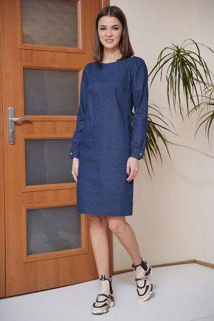 Платье Платье Fantazia Mod 3803  Состав: Вискоза-34%; ПЭ-63%; Эластан-3%; Сезон: Весна Рост: 164  Джинсовые платья не выходят из моды уже несколько десятилетий. Такую популярность по праву им обеспеч