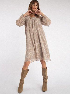 Шифоновое платье PL1115/brent
