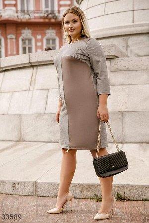 Комбинированное платье с молнией