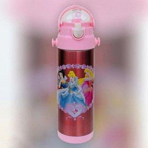 """Детский термос """"Принцессы"""" розовый"""