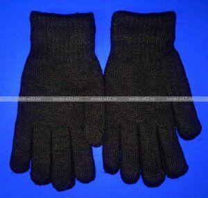Перчатки мужские толстые двойные ЧЕРНЫЕ