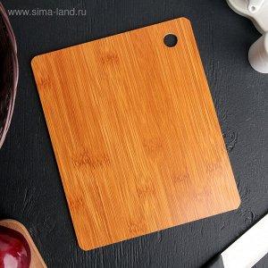 Доска разделочная «Роща», 25?20 см, бамбук