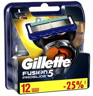 GILLETTE FUSION ProGlide Сменные кассеты для бритья 12шт