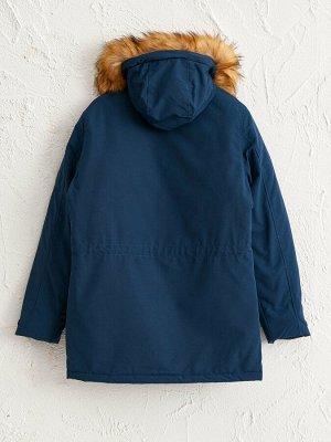 Парка Толщина: Толстая Длина рукава: Длинный рукав Длина: Длина пальто Воротник: Стойка Тип товара: Парка Капюшон: С капюшоном Материал подкладки: Подкладка из тафты Размерный ряд модели: XL, 2XL, 3XL