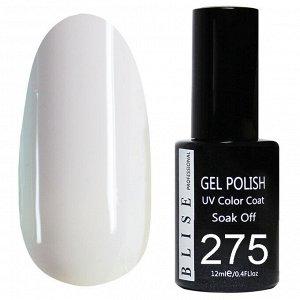 Гель-лак BLISE 275- Бледно-сиреневый,плотный