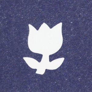 """Дырокол фигурный """"Тюльпан"""", диаметр вырезной фигуры 16 мм, ОСТРОВ СОКРОВИЩ, 227158"""