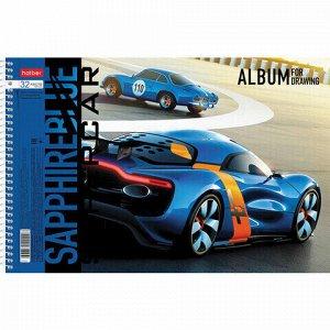 """Альбом для рисования А4 32 л., спираль, обложка картон, HATBER, 205х290 мм, """"Supercar"""" (5 в спайке), 32А4Всп"""