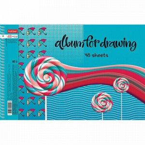 """Альбом для рисования А4 48 л., спираль, обложка картон, HATBER, 205х290 мм, """"Вихрь эмоций"""" (4 в спайке), 48А4Всп"""