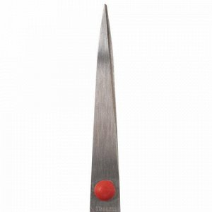 Ножницы STAFF EVERYDAY, 170 мм, бюджет, резиновые вставки, черно-красные, ПВХ чехол, 237498