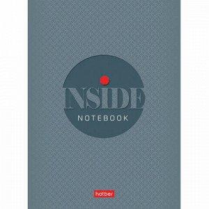 Блокнот МАЛЫЙ ФОРМАТ А6 (105х145 мм) 32 л., скоба, ламинированная бумага, HATBER, INSIDE, 32Б6B1