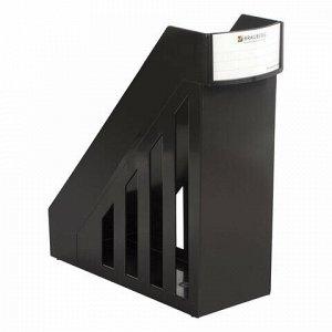 Лоток вертикальный для бумаг, увеличенная ширина (277х100х290 мм), BRAUBERG-MAXI, черный, 231050