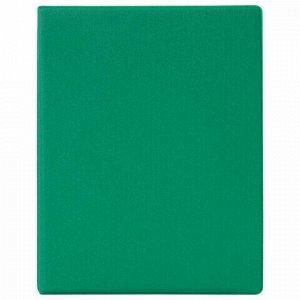 Тетрадь на кольцах А5 (180х220 мм), 80 л., обложка ПВХ, клетка, BRAUBERG, зеленый, 403910