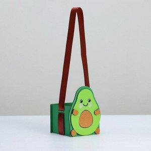 """Кашпо деревянное, 10?10?13 см, подарочное уникальное """"Авокадо"""", зелёное"""