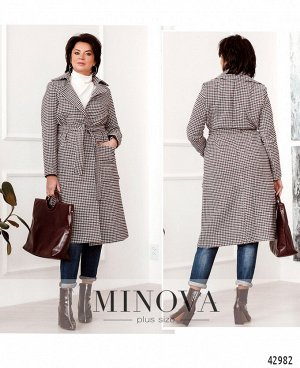Пальто №931-бордо