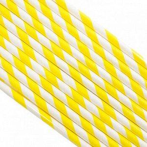 Палочки бумажные Лента Желтая 200*6 мм, 25 шт