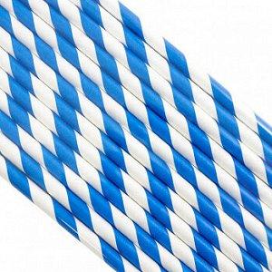 Палочки бумажные Лента Синяя 200*6 мм, 25 шт