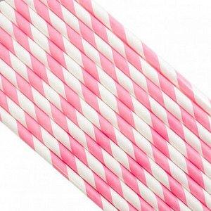 Палочки бумажные Лента Розовая 200*6 мм, 25 шт