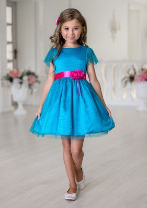 Беата нарядное платье бирюзовый