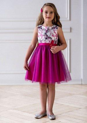 Милора нарядное платье розовый