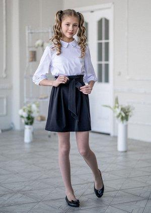 Школьная юбка Мэнкс, цвет черный