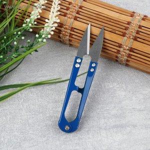 Ножницы для распарывания швов, обрезки ниток, 10 см, цвет МИКС