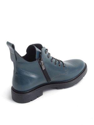 Ботинки женские демисезонные, синий кожа