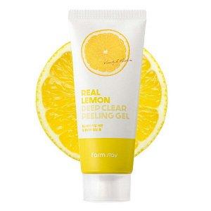Пилинг-гель с лимоном  FarmStay Real Lemon Deep Clear Peeling Gel, 100ml