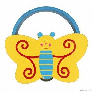 Бубен фигурный Бабочка  15*15*4 см