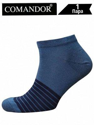 Носки муж. Comandor арт. 013-1 Десять полос джинс/темно-синий,