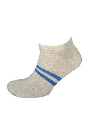 Носки муж. Comandor арт. 013-2 полосы серый-меланж/синий