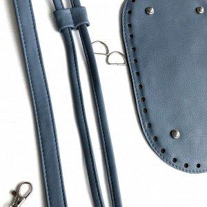 Набор для сумки-торбы из эко-кожи. Цвет: джинс