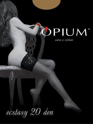 Чулки БЕЛЫЕ Opium Ecstasy 20 Den (р-р 3)