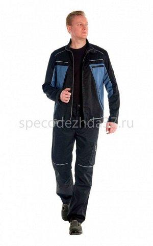 """Куртка рабочая """"Сигма"""" цв.серый/чёрный тк.милан"""