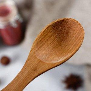 """Ложка деревянная """"Фигурная"""", 15-15,5 см, массив черешни"""